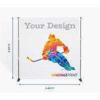 Stand photocall 240 x 240 cm - Window2Print