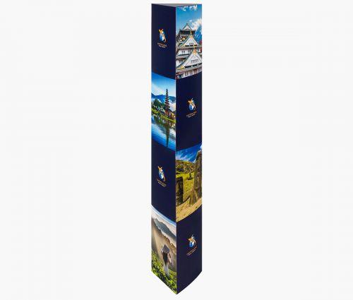 PLV Totem triangulaire - Excellente solidité ✦ Window2Print