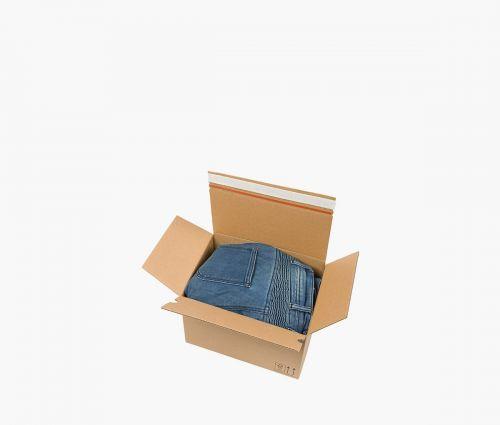 Boîte carton AUTO 50 - Deux bandes adhésives ✦ Window2Print
