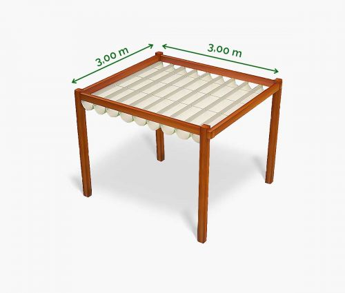 Store pergola 300 x 300 cm - imperméable - blanc