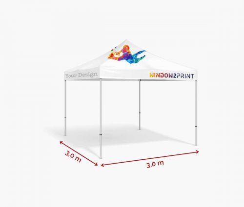 Tente moyenne 3 x 3 m avec toit - Window2Print