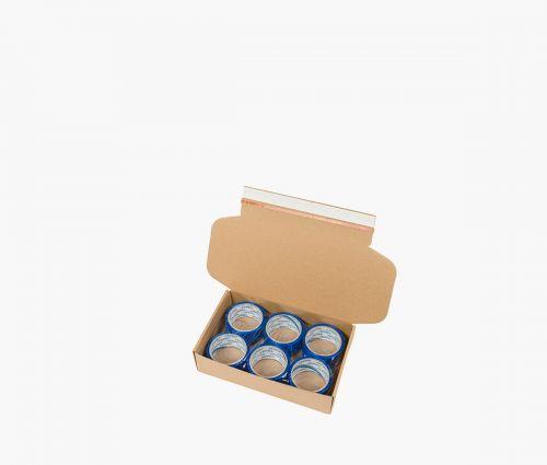 Boîte carton FAST 10 - Deux bandes adhésives distinctes ✦ Window2Print