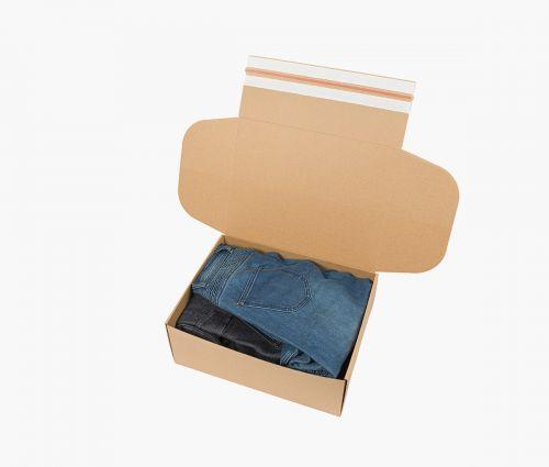 Boîte carton FAST 50 - Bande adhésive - également retournable ✦ Window2Print