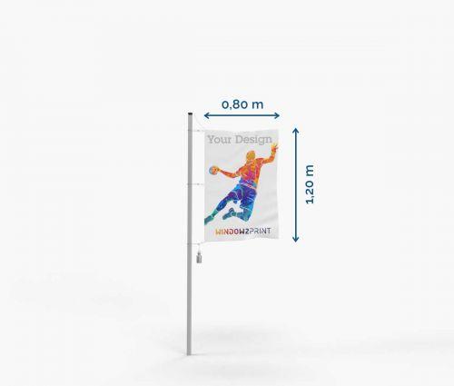 Drapeau - Polyester - 80 x 120 cm - avec mousquetons I Window2Print