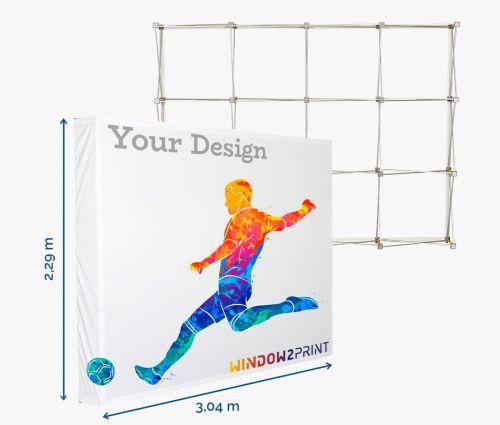 Stand parapluie Hop-Up L / 3x4 - Window2Print