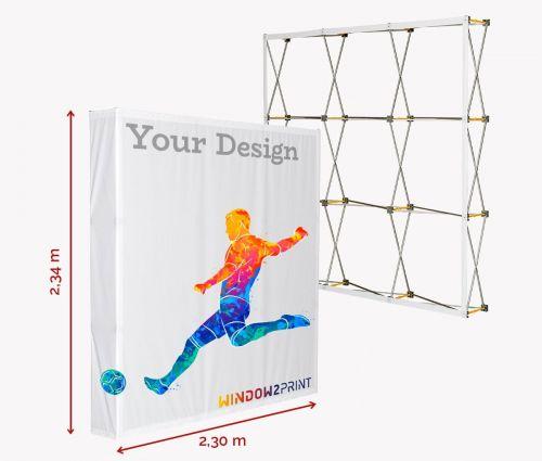 Stand parapluie Hop-Up M / 3x3 - Window2Print