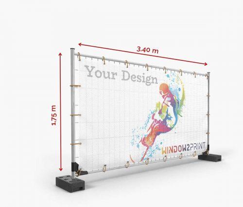 Bâche pour heras mesh 340 x 175 cm - Window2Print