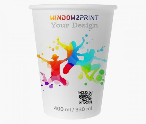 Gobelets en papier 330 ml - Window2Print