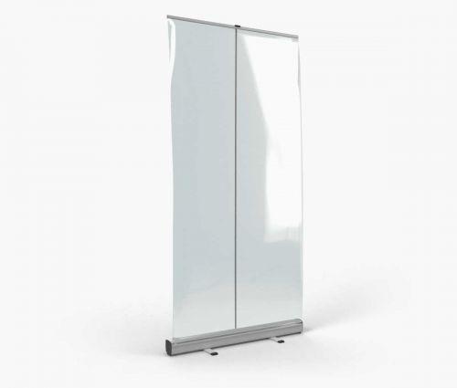 Rollup avec bâche transparente 100 x 200 cm ✦ Window2Print
