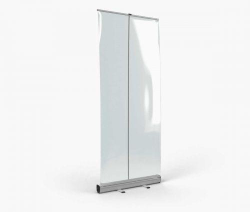 Roll up avec bâche transparente 85 x 200 cm ✦ Window2Print
