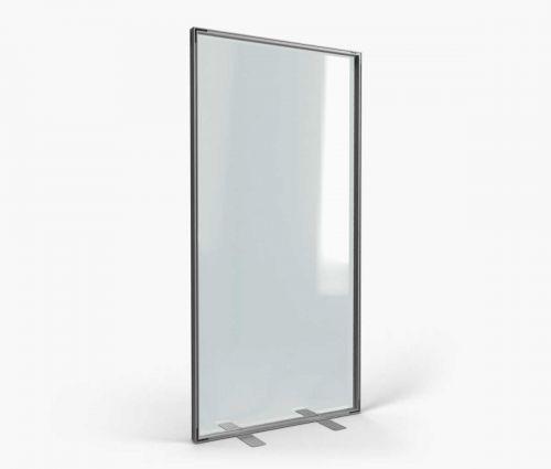 Support d'intérieur transparent en alu 100 x 200 cm ✦ Window2Print