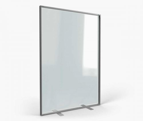 Support d'intérieur transparent en alu 138 x 200 cm ✦ Window2Print