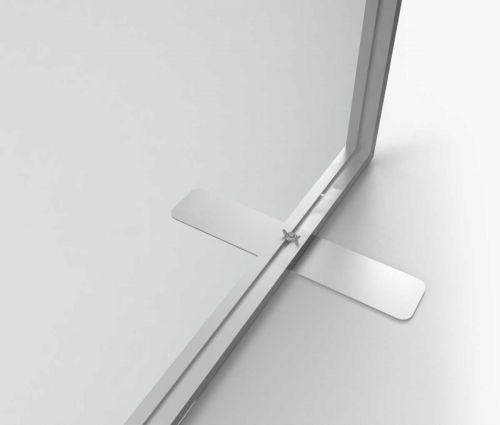 Support d'intérieur transparent en alu - La structure de cette paroi est très légère ✦ Window2Print