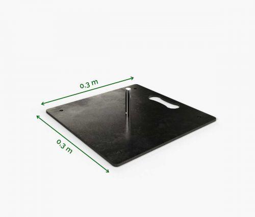 Pied Carré En Métal 30 cm ✦ Window2Print