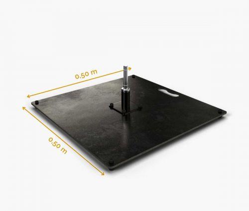 Pied Carré En Métal 50 cm (15 kg) ✦ Window2Print