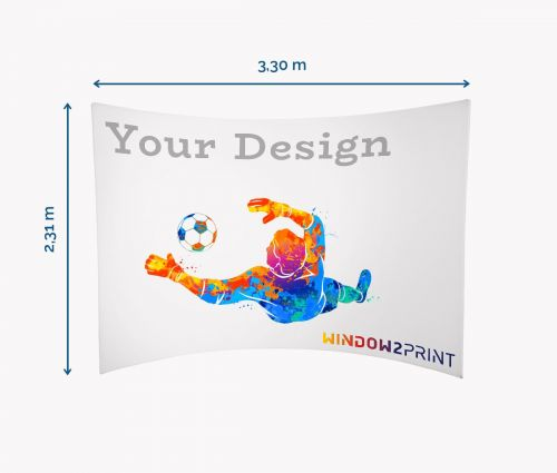 Stand d'exposition en tissu Horizontal - Window2Print