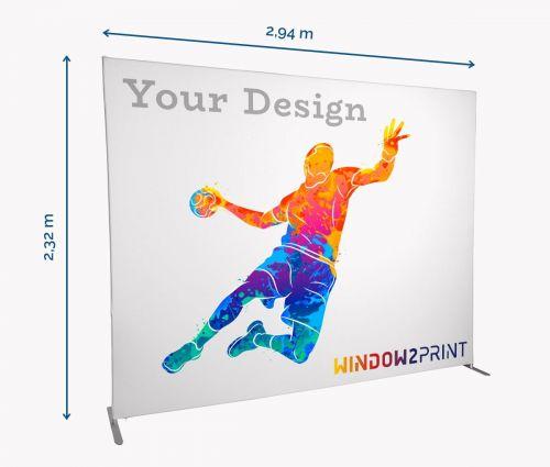 Stand d'exposition en tissu Straight - Window2Print