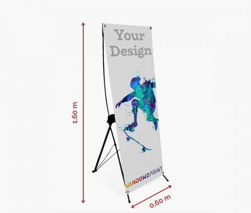 X-banner 60 x 160 cm - Window2Print
