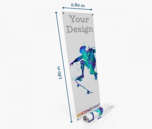 X-banner 80 x 180 cm - impression film
