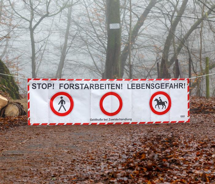 Banderoles barrière de forêt | Commandez en ligne vos bannières bon marché