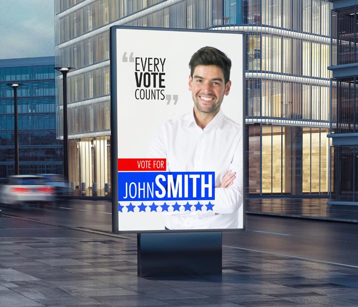 Impression d'affiches électorales sur panneaux alvéolaire